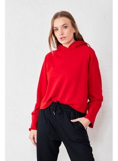 EKA Kapüşonlu Sweatshirt Kırmızı